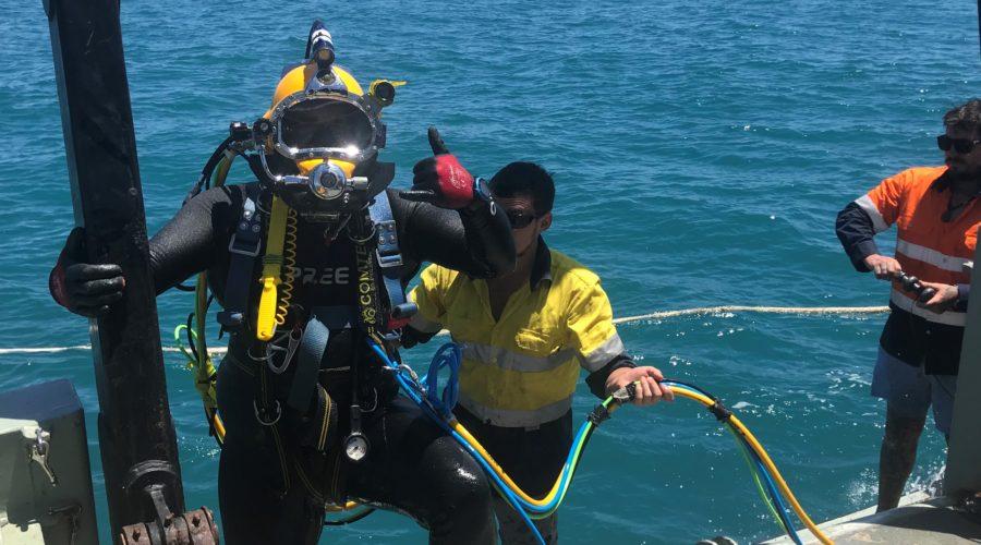 Diver Mooring Cyclone Mooring Inspection